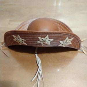 Chapéu de couro modelo Cangaceiro