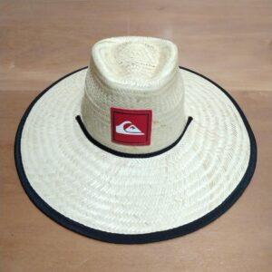 """Chapéu de palha revestido com tecido floral – """"Chapéu do Medina"""""""