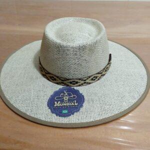 Chapéu de Juta forrada modelo Campeirão Mundial – aba 10