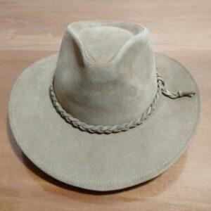 Chapéu de couro Lagomarsino aba 7 modelo safari
