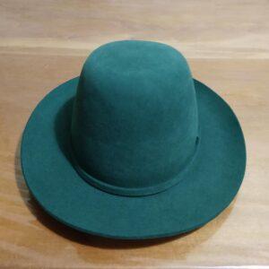 Chapéu Cury 100% Pelo de Lebre modelo Crioulo cor Verde – Ponta de Estoque
