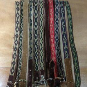 Vincha ( ou Banda) de couro com fita Pampa